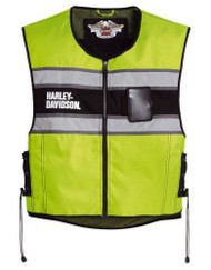 Harley-Davidson® Men's Hi-Vis Yellow Riding Vest 98173-10VM - Wisconsin Harley-Davidson