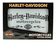 Harley-Davidson® Motorcycle Tempered Glass Cutting Board w/ Handles HDL-18504 - Wisconsin Harley-Davidson