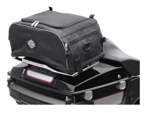 Harley-Davidson® Bar & Shield Zippered Collapsible Rack Bag Black 93300009