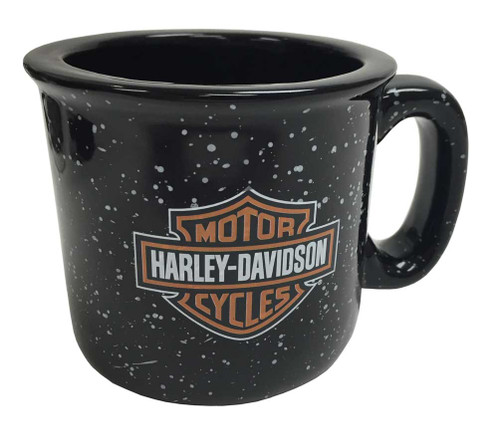 Harley-Davidson® Campfire Bar & Shield Coffee Mug, 12 oz. Black HD-BSS-2206