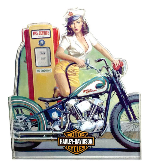 Harley-Davidson® Full Service Pin Up Lady Magnet, 4 x 3.5 inches 8003852