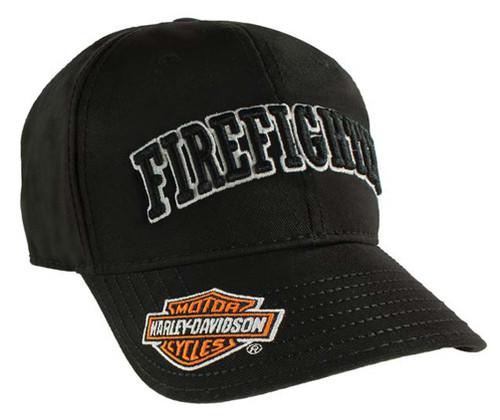 Harley-Davidson® Firefighter 3D Black Baseball Cap, Velcro Closure BC126830