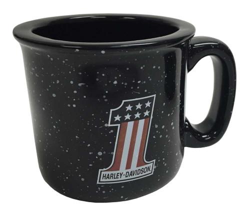 Harley-Davidson® Campfire #1 Coffee Mug, 12 oz. Black Speckled HD-HNO-2206