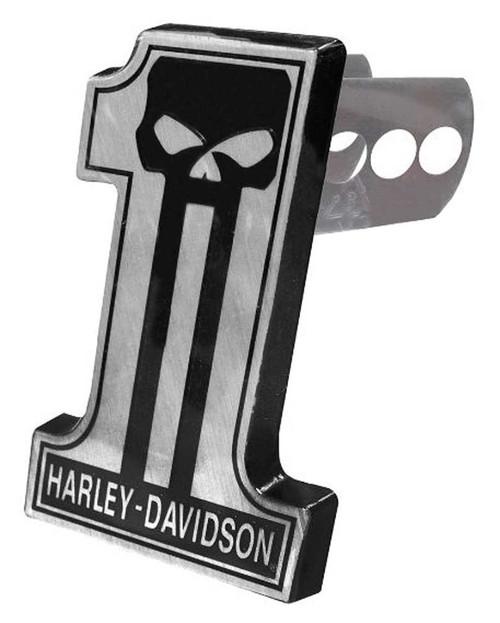 Harley-Davidson® Dark Custom #1 Skull Hitch Plug, Universal 2 & 1.25 Inch 2301