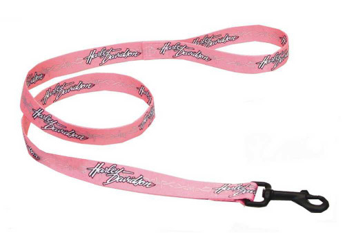 Harley-Davidson® Barb Wire Vibrant Nylon Dog Leash 5/8'' x 4' Pink H0464-PBW04