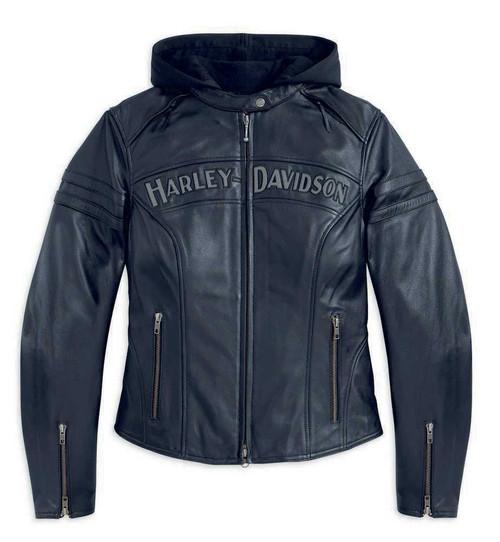 Harley-davidson Rouge Femmes Veste De Motard En Cuir