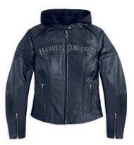 Harley-Davidson® Women's Miss Enthusiast 3 in 1 Leather Jacket 98030-12VW - Wisconsin Harley-Davidson