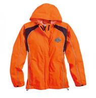 Harley-Davidson® Womens Hi-Vis Orange Rain Suit Waterproof Jacket/Pant 98316-14VW - Wisconsin Harley-Davidson