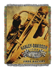 Harley-Davidson® Free Racer Tapestry Throw Blanket, 48 x 60 inch NW282834