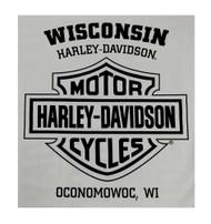 Harley-Davidson® Men's Sweatshirt, Heritage H-D, Gray Crew Neck Pullover 30296642 - A