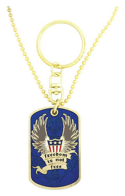 Harley-Davidson® Dog Tag, Freedom Is Not Free POW-MIA Chain/Key Chain 8002817 - A