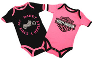 Harley-Davidson® Baby Girls' Daddy Rides A Harley Creeper 2-Pack 1103052 - Wisconsin Harley-Davidson