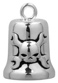 Harley-Davidson® Wrenches And Skull B&S Motorcycle Ride Bell, Silver HRB009