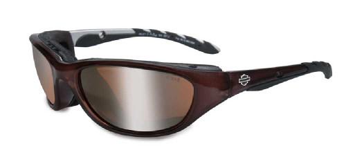 Harley-Davidson® Airrage Bronze Lens w/ Crystal Bronze Frame Sunglasses HD695