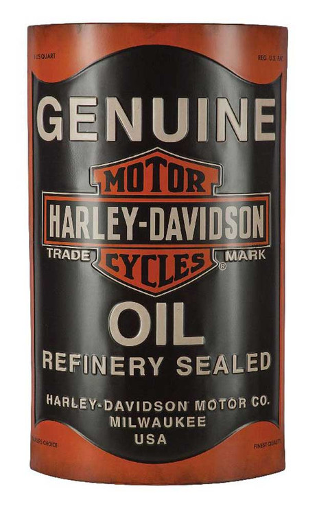 Harley-Davidson® Embossed Distressed Oil Can Bar & Shield Metal Sign, HDL-15511 - C