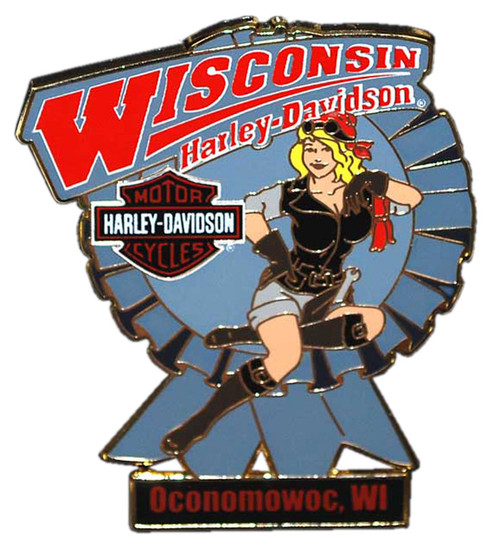 Harley-Davidson® Blue Ribbon Lady Pin RIBBON - Wisconsin Harley-Davidson