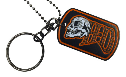 Harley-Davidson® Edgy H-D Skull Performance Dog Tag, Chain & Key Ring 8004880 - A