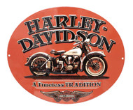 Harley-Davidson® Embossed Timeless Vintage Motorcycle Tin Sign, Orange 2010781 - Wisconsin Harley-Davidson