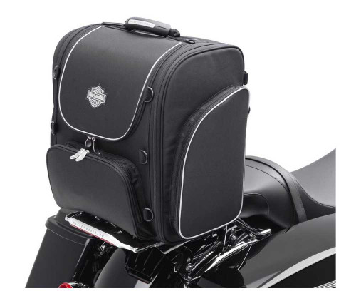 Harley-Davidson® Bar & Shield Zippered Touring Luggage Bag Black Nylon 93300004 - Wisconsin Harley-Davidson