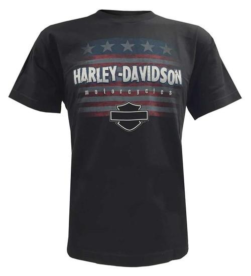 Harley-Davidson® Big Boys' Stars N' Stripes Patriotic Youth T-Shirt, Black - A