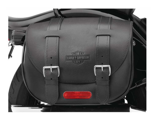 Harley-Davidson® Cross Bones B&S Leather Saddlebags Softail Models 90419-08