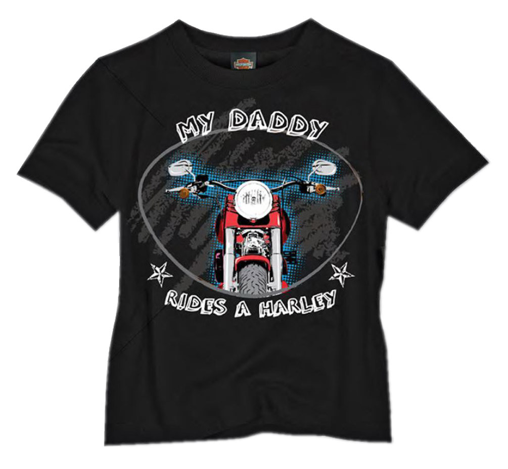 Harley-Davidson® Little Boys' Daddy Rides A Harley T-Shirt Black 0474244