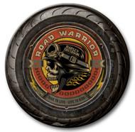 Harley-Davidson® 23 in Round 2 Piece Tire Skull Wooden Sign CU118A-AD-RW-HARL