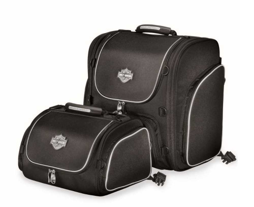 Harley-Davidson® Bar & Shield Zippered Touring Luggage System Black 93300003 - A