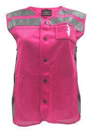 Missing Link Women's Meshed Up Expandable Safety Vest (Pink/Fuchsia) MUWP