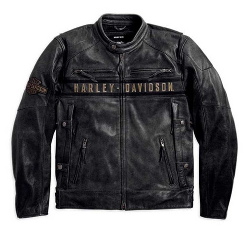 Harley Davidson 174 Men S Passing Link Triple Vent Leather