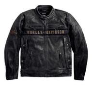 Harley-Davidson® Men's Passing Link Triple Vent Leather Jacket 98074-14VM - Wisconsin Harley-Davidson