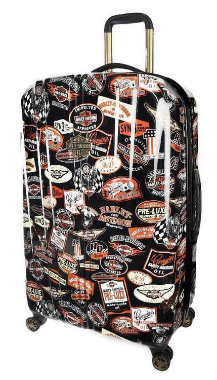 Harley-Davidson® 29 Inch Vintage Pullman Spinner Wheels Luggage, Black 99929-VIN - A