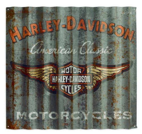 Harley-Davidson® Classic Corrugated Metal Sign, Aluminum 36 x 32. 99217-14V
