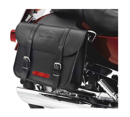 Harley-Davidson® Throw-Over Bar & Shield Saddlebags Black Leather