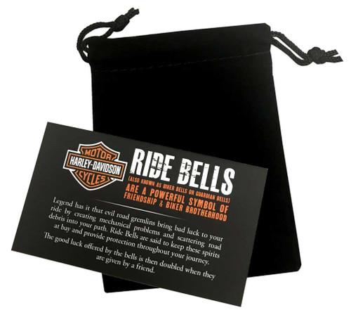 Harley-Davidson® Black Flames Skull Silver Ride Bell HRB039