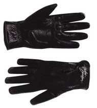 Harley-Davidson® Women's Perforated Full-Finger Black Leather Gloves 98346-09VW - A