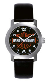Harley-Davidson® Men's Bar & Shield Leather Wrist Watch 76A04 - A