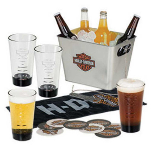 Harley-Davidson® Bar & Shield Party Bucket Pint Glasses Gift Set, HDL-18757