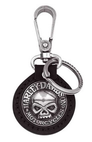 Harley-Davidson® Willie G. Skull Medallion Key Chain Fob, Black 99443-06V