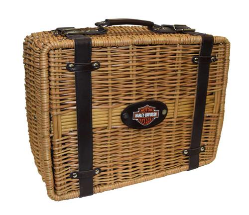 Harley-Davidson® Champion Picnic Basket, Black 208-40 - A