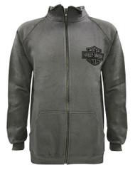 Harley-Davidson® Men's Bar & Shield Track Jacket, Charcooal Zip H-D 30296617