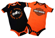 Harley-Davidson® Baby Boys' Daddy Rides A Harley Creeper 2-Pack 1153042 - Wisconsin Harley-Davidson