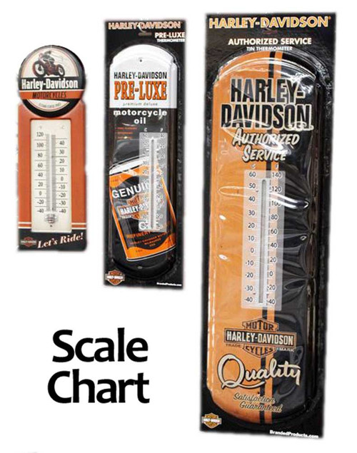 Harley-Davidson® Authorized Service Tin Thermometer, 8 W x 26.75 H HDL-10093