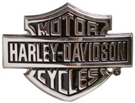 Harley-Davidson® Men's Chrome Bar & Shield Logo Belt Buckle HDMBU10615 - Wisconsin Harley-Davidson