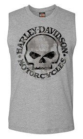 Harley-Davidson® Men's Willie G Skull Muscle Tank Top Sleeveless Tee 30296650 - A