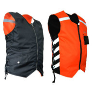 Missing Link Mens Military Duty Reversible Safety Vest - Orange MDVO