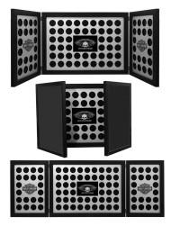 Harley-Davidson® Tri-Fold Poker Chip Collectors Frame, Holds 88 Chips, Black 6973 - Wisconsin Harley-Davidson