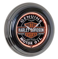 Harley-Davidson® Genuine Oil Can Orange Neon Clock HDL-16617 - Wisconsin Harley-Davidson