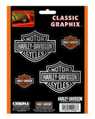 Harley-Davidson® Bar & Shield 4-Piece Decal Set Stickers CG99066 - Wisconsin Harley-Davidson