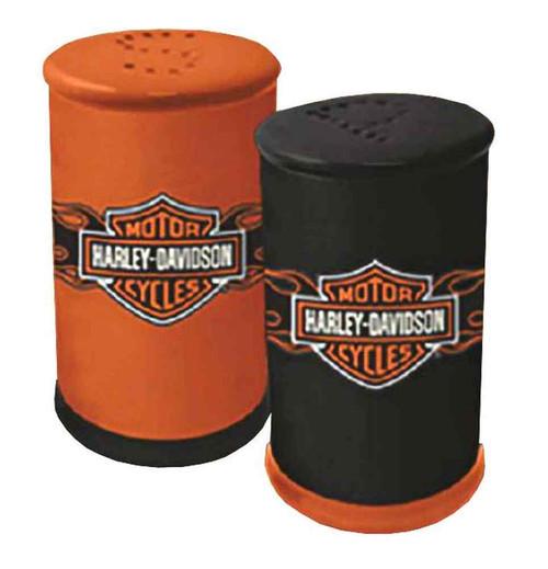Harley-Davidson® Flaming Bar & Shield Salt & Pepper Shakers Set, HD-FLM-634